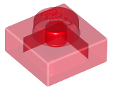 Trans-Red Plate 1 x 1