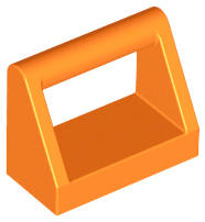 Orange Tile, Modified 1 x 2 with Handle