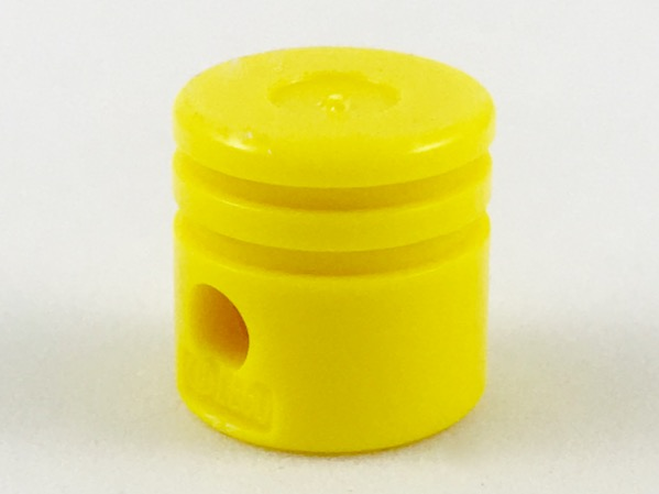 Yellow Technic Engine Piston Round