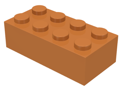 Medium Dark Flesh Brick 2 x 4