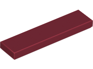 Dark Red Tile 1 x 4
