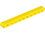 Yellow Technic, Liftarm 1 x 11 Thick