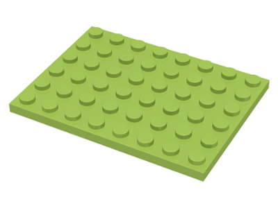 Lime Plate 6 x 8