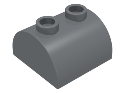Dark Bluish Gray Slope, Curved 2 x 2 x 1 Double with Two Studs