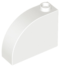 White Brick, Modified 1 x 3 x 2 with Curved Top