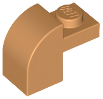 Medium Nougat Slope, Curved 2 x 1 x 1 1/3 with Recessed Stud