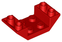 Red Slope, Inverted 45 4 x 2 Double with 2 x 2 Cutout