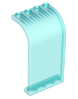 Trans-Light Blue Panel 3 x 4 x 6 Curved Top