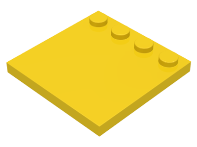 Yellow Tile, Modified 4 x 4 with Studs on Edge