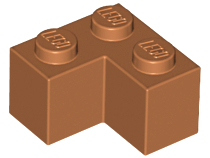 Dark Orange Brick 2 x 2 Corner