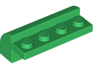 Green Brick, Modified 2 x 4 x 1 1/3 with Curved Top