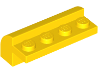 Yellow Slope, Curved 2 x 4 x 1 1/3 with Four Recessed Studs