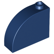 Dark Blue Brick, Modified 1 x 3 x 2 with Curved Top