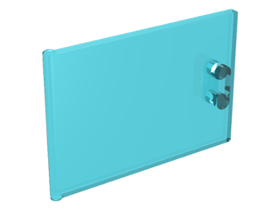 Trans-Light Blue Container, Cupboard 2 x 3 x 2 Door