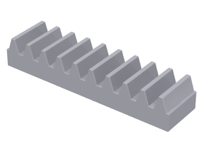 Light Bluish Gray Technic, Gear Rack 1 x 4
