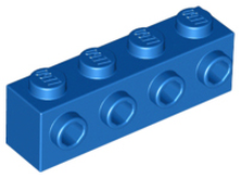 Blue Brick, Modified 1 x 4 with 4 Studs on 1 Side