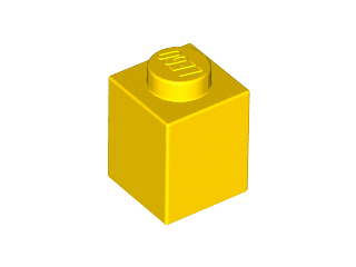 Yellow Brick 1 x 1