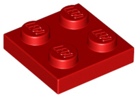 Red Plate 2 x 2
