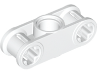 White Technic, Axle and Pin Connector Perpendicular 3L with Center Pin Hole