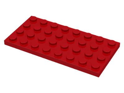 Red Plate 4 x 8