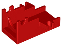 Red Minifigure, Weapon Cannon Base 2 x 4