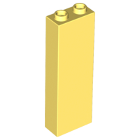 Bright Light Yellow Brick 1 x 2 x 5 - Blocked Open Studs or Hollow Studs