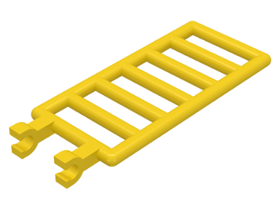 Yellow Bar 7 x 3 with Double Clips (Ladder)