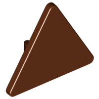 Reddish Brown Road Sign 2 x 2 Triangle with Clip