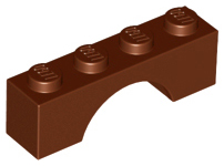 Reddish Brown Brick, Arch 1 x 4