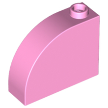 Bright Pink Brick, Modified 1 x 3 x 2 with Curved Top