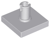 Light Bluish Gray Tile, Modified 2 x 2 with Pin