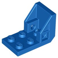 Blue Bracket 3 x 2 - 2 x 2 (Space Seat)
