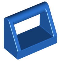 Blue Tile, Modified 1 x 2 with Handle