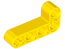 Yellow Technic, Liftarm 2 x 4 L-Shape Thick
