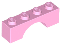 Bright Pink Brick, Arch 1 x 4