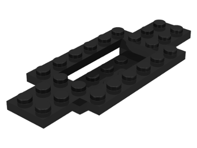 Black Vehicle, Base 4 x 10 x 2/3 with 4 x 2 Recessed Center with Smooth Underside