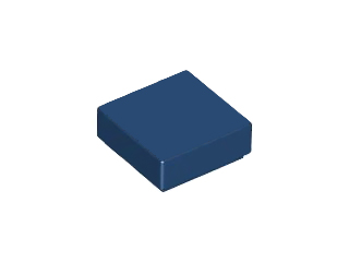 Dark Blue Tile 1 x 1 with Groove (3070)