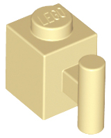 Tan Brick, Modified 1 x 1 with Handle