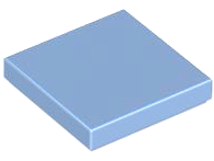 Medium Blue Tile 2 x 2 with Groove