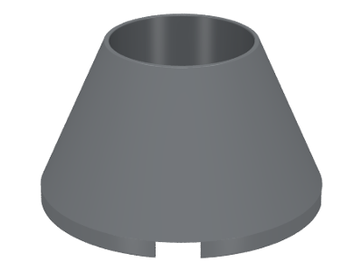 Dark Bluish Gray Cone 4 x 4 x 2 Hollow No Studs