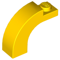 Yellow Brick, Arch 1 x 3 x 2 Curved Top