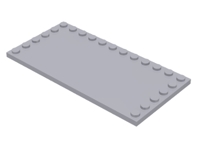 Light Bluish Gray Tile, Modified 6 x 12 with Studs on Edges