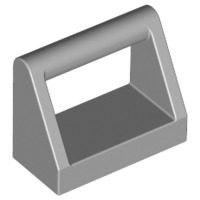 Light Bluish Gray Tile, Modified 1 x 2 with Handle