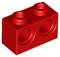 Red Technic, Brick 1 x 2 with Holes