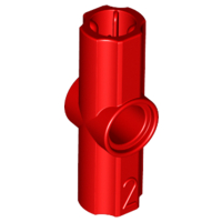 Red Technic, Axle and Pin Connector Angled #2 - 180 degrees