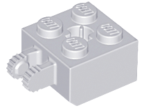 Light Bluish Gray Hinge Brick 2 x 2 Locking with 2 Fingers Vertical and Axle Hole