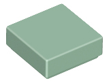 Sand Green Tile 1 x 1 with Groove (3070)