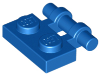 Blue Plate, Modified 1 x 2 with Bar Handle on Side with Free Ends