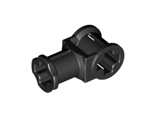 Black Technic, Axle Connector with Axle Hole