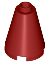 Dark Red Cone 2 x 2 x 2 - Open Stud